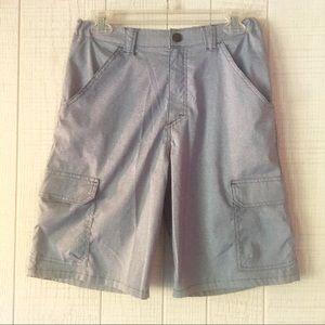 Stonewash Heather Grey Outdoor Cargo Shorts